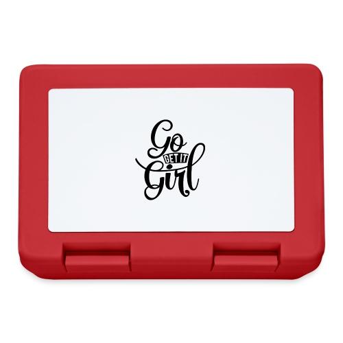 Go get it girl opdruk - Broodtrommel