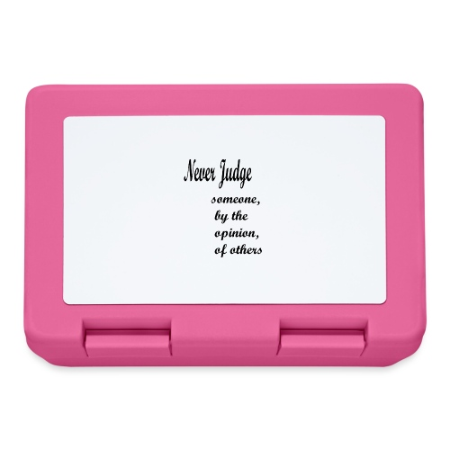 Never Judge - Lunchbox