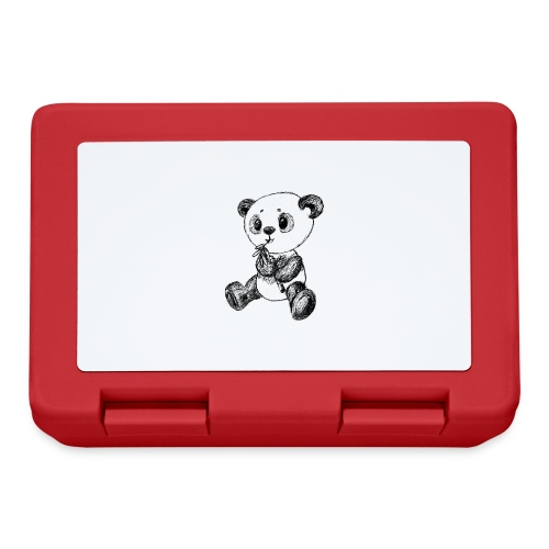 Panda bjørn sort scribblesirii - Madkasse