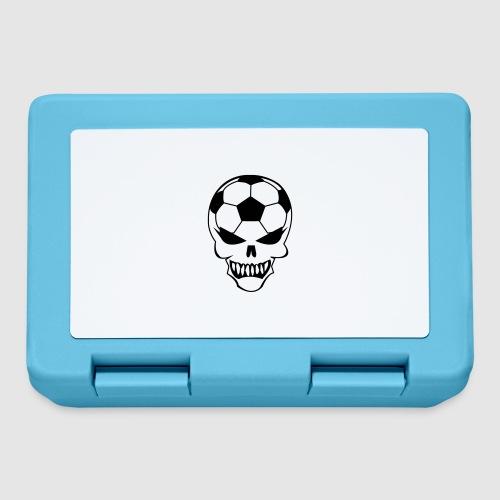 Fußball-Totenkopf - Brotdose