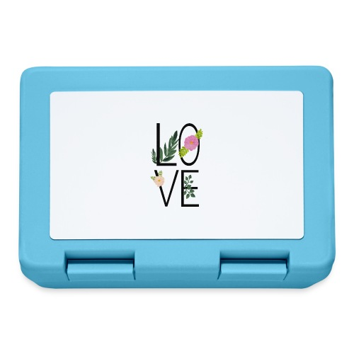 Love Sign with flowers - Lunchbox