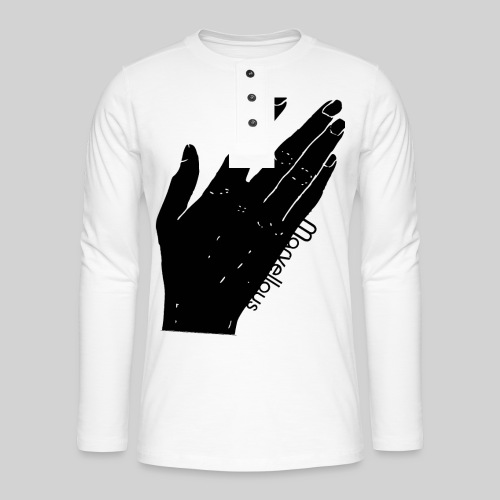 Marvellous Hand - Henley Langarmshirt