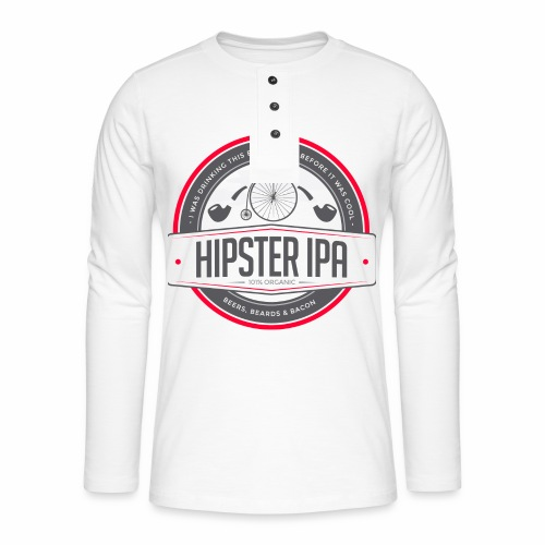Hipster IPA - Henley long-sleeved shirt