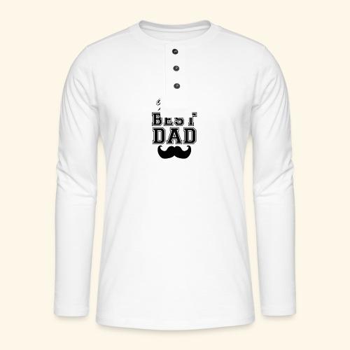 Worlds best dad - Henley T-shirt med lange ærmer