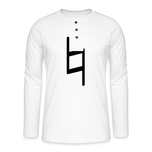 holy brand shirt, black - Henley Langarmshirt