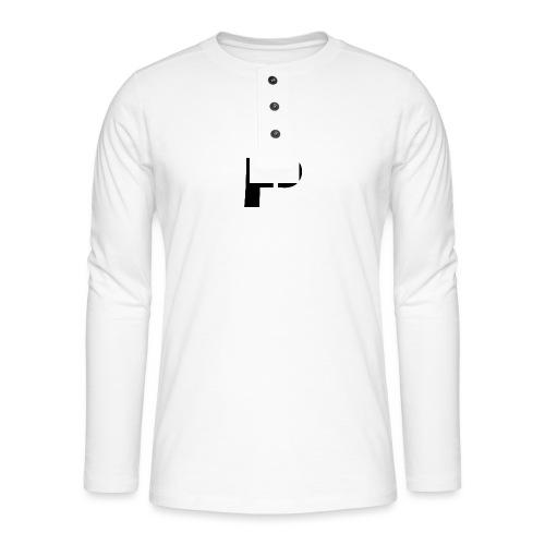 logo bij borst - Henley shirt met lange mouwen