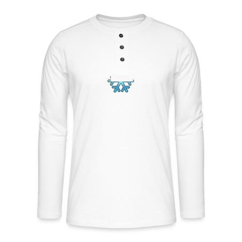 Schneeflocke - Henley Langarmshirt