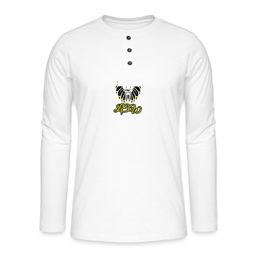 Black and Yellow Lew - Henley long-sleeved shirt