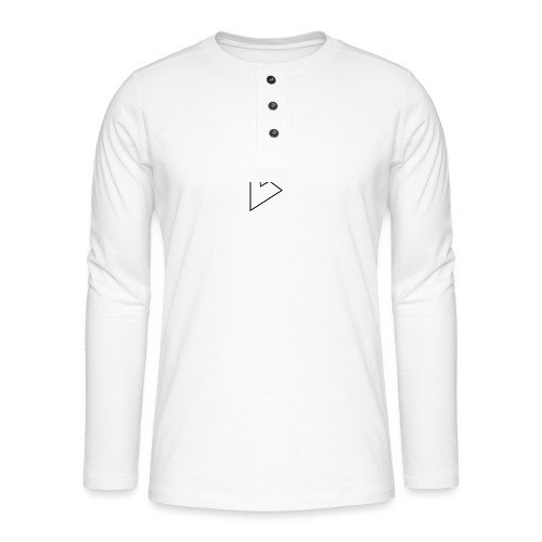 dstrbng official logo - Henley long-sleeved shirt