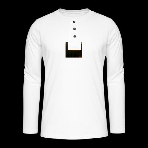 freegia - Henley T-shirt med lange ærmer