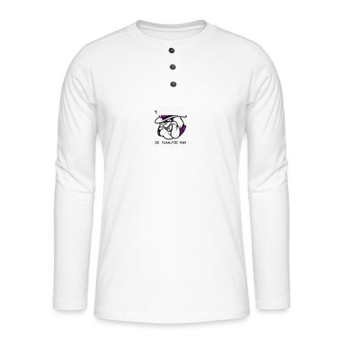 T-shirt D12M - Henley shirt met lange mouwen