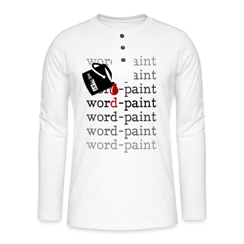 Word - paint - Maglia a manica lunga Henley
