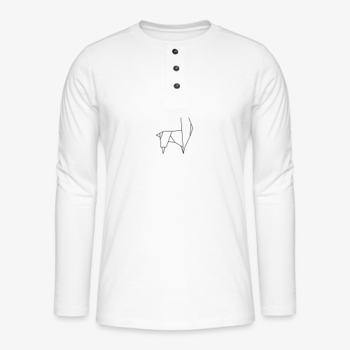 Lama Alpaka - Henley Langarmshirt