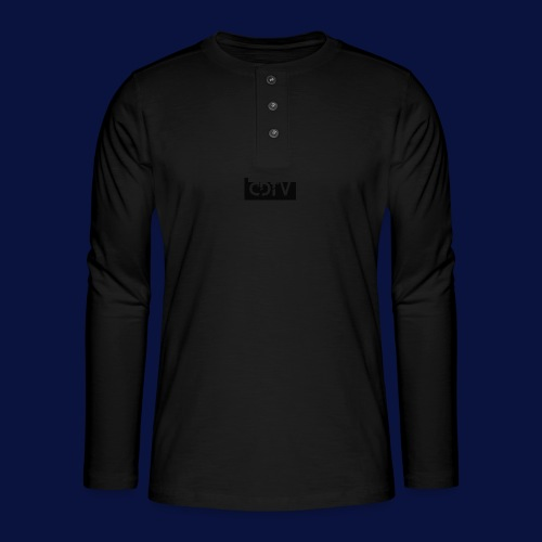 CDTV Box Logo - Henley long-sleeved shirt
