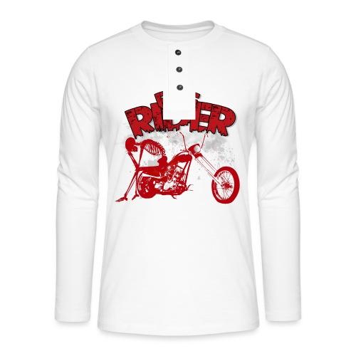 FREE RIDER - Camiseta panadera de manga larga Henley