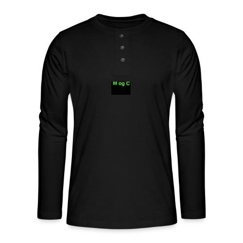 mogc - Henley T-shirt med lange ærmer