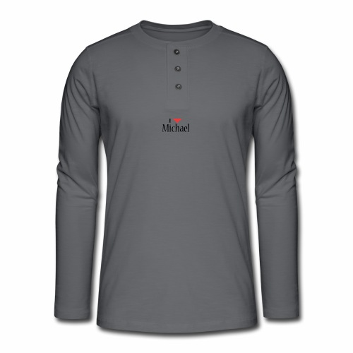 Michael designstyle i love Michael - Henley long-sleeved shirt