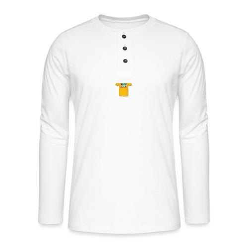 Castle design - Henley T-shirt med lange ærmer