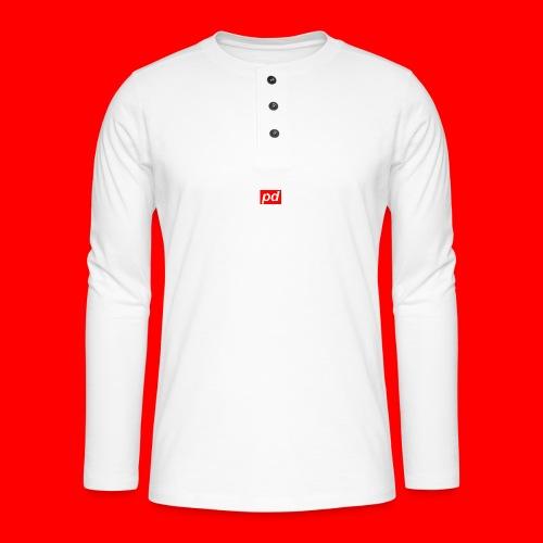 pd Red - Henley T-shirt med lange ærmer