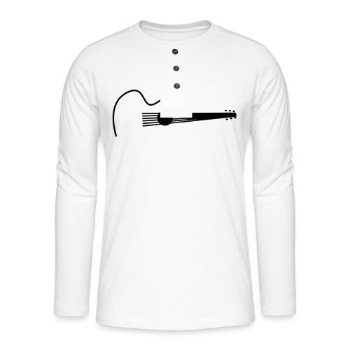 Accoustic Guitar Draw - Henley Langarmshirt