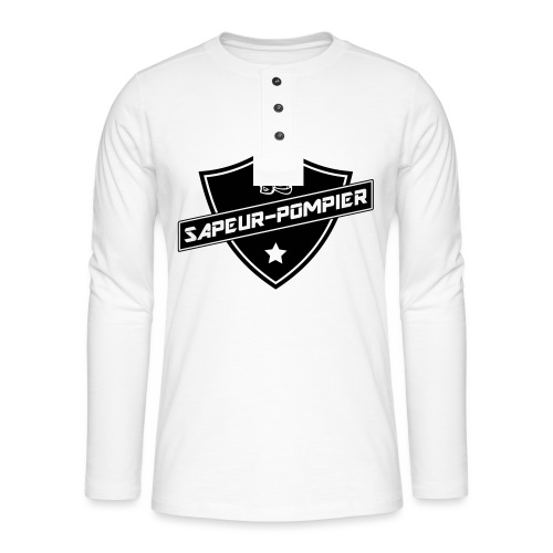 blason sapeur-pompier - T-shirt manches longues Henley