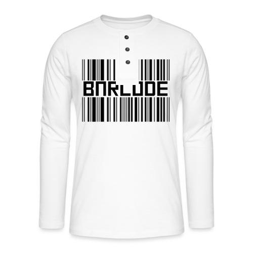 BARCODE WHITE - Henley long-sleeved shirt