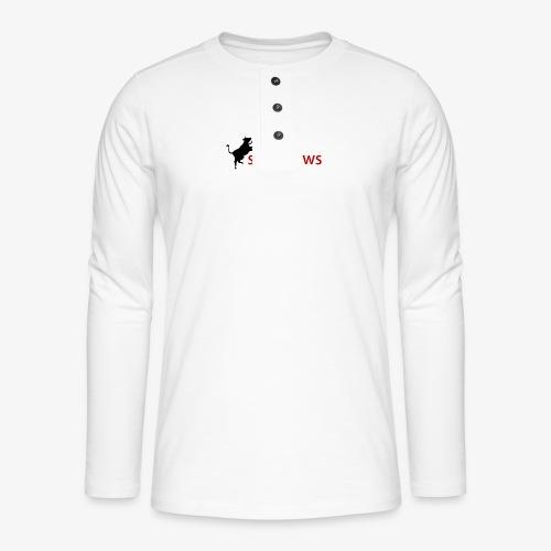 Männer T-Shirt - Henley Langarmshirt