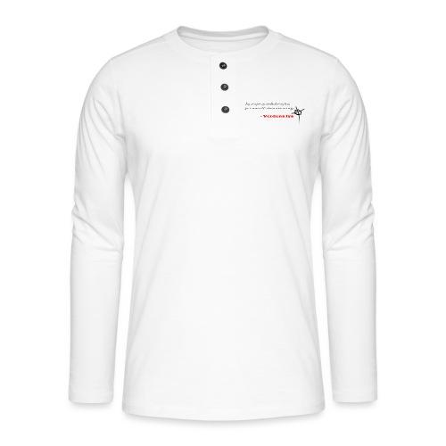 Johs 14:6 mørk - Henley T-shirt med lange ærmer