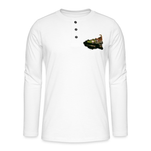 Cats meet Koi - Henley long-sleeved shirt