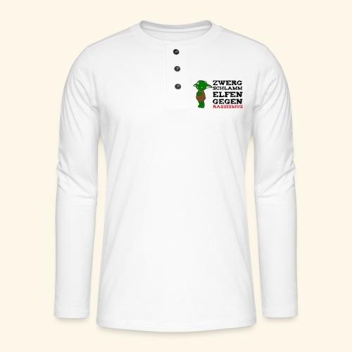 Zwergschlammelfen gegen Rassismus - Henley Langarmshirt