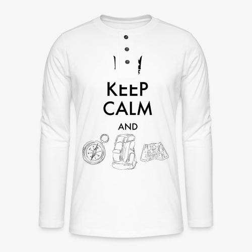 keepcalmandexplore - Henley long-sleeved shirt