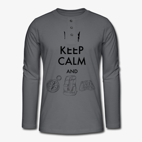 keepcalmandexplore - Henley long-sleeved shirt