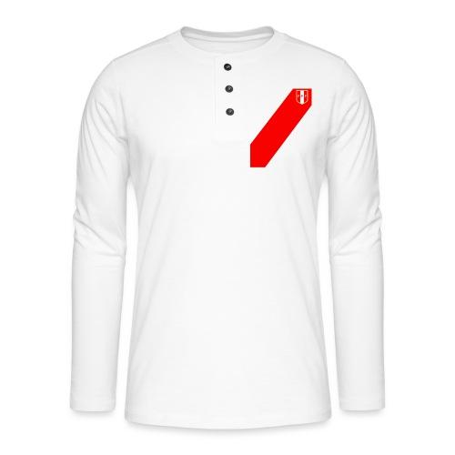 Seleccion peruana de futbol (Recto-verso) - Camiseta panadera de manga larga Henley