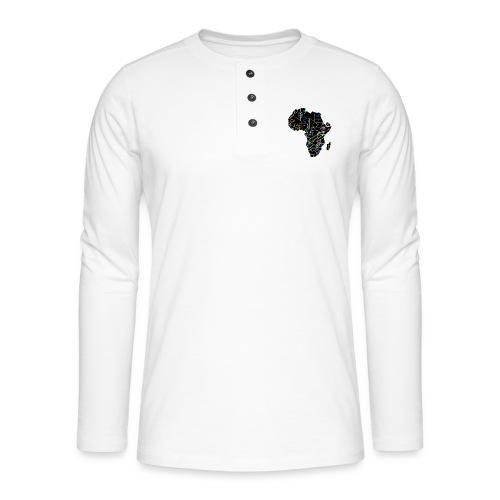 Afrique Néons - T-shirt manches longues Henley