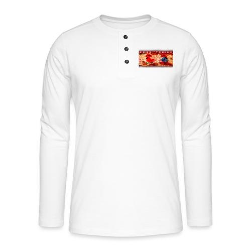 Dos Paisanitas tejiendo telar inca - Camiseta panadera de manga larga Henley