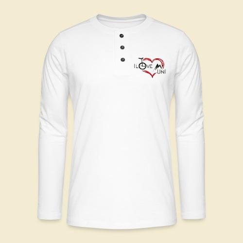 Einrad | Unicycling I Love Muni - Henley Langarmshirt
