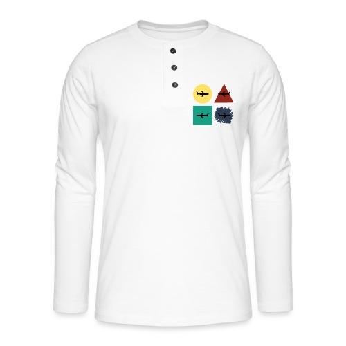 Airlines - Camiseta panadera de manga larga Henley