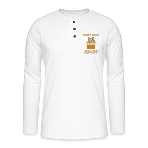 ADOBT DONT SHOP - Adoptieren statt kaufen - Henley Langarmshirt
