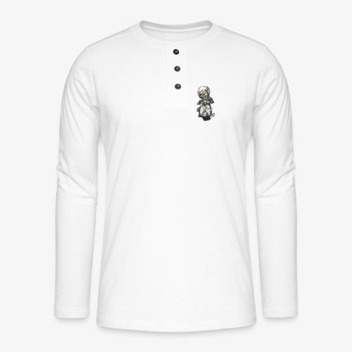 Skullterist + Vintage Logo - Henley Langarmshirt