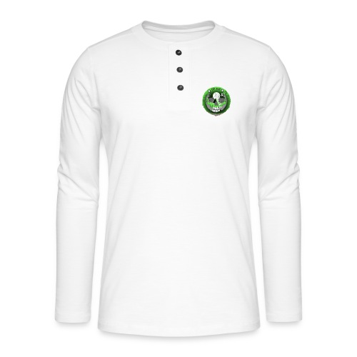 Rigormortiz Metallic Green Design - Henley long-sleeved shirt