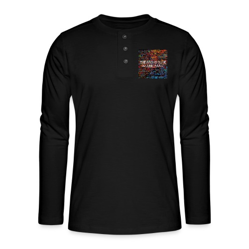 Manic Panic - Design 1 - Henley long-sleeved shirt