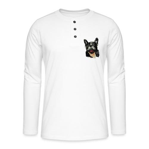 French Bulldog Portrait - lebendig und urban - Henley Langarmshirt