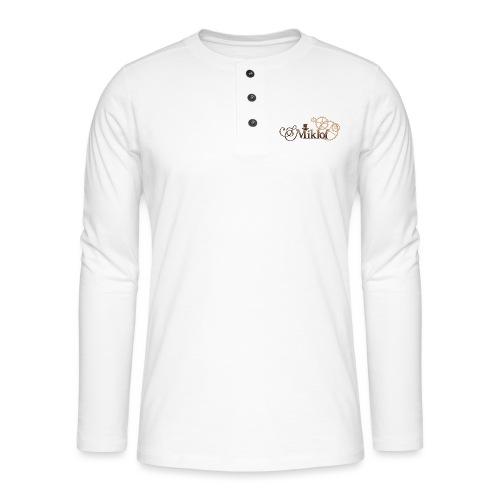 miklof logo gold wood gradient 3000px - Henley long-sleeved shirt