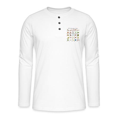 Ägyptisches Alphabet - Henley Langarmshirt