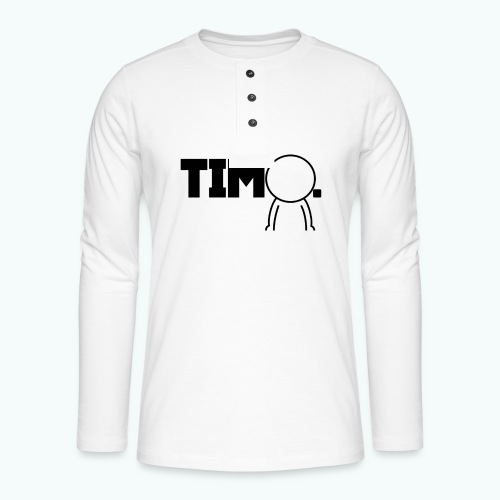 Design met ventje - Henley shirt met lange mouwen