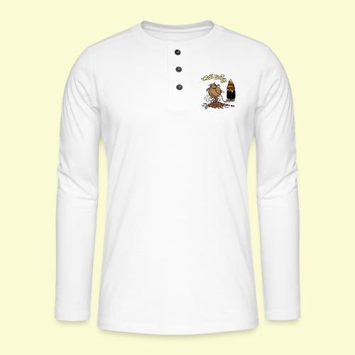 DIRKJAN Hondenpoep - Henley shirt met lange mouwen