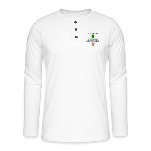 T-shirt cadeau de Noël - T-shirt manches longues Henley