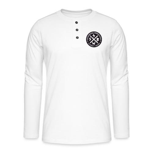 BASIC LOGO SWEATSHIRT BLACK - Camiseta panadera de manga larga Henley