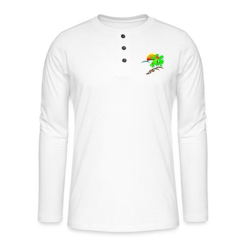 Berry - Henley long-sleeved shirt