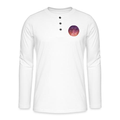 FlowerOfLife Warm - Henley shirt met lange mouwen